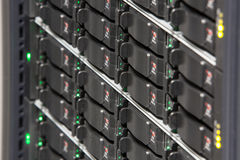 Server rack with multiple hard drives Royalty Free Stock Photography
