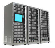 Server Rack X3 Stock Image