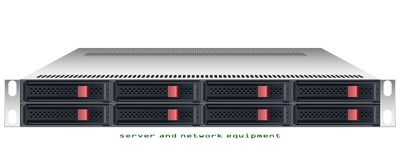 Server rackmount chassis Royalty Free Stock Photo
