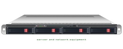 Server rackmount 1u chassis Royalty Free Stock Photo