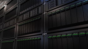 Server racks. Cloud storage technology or modern data center concepts. 3D rendering. Server racks. Cloud storage technology or modern data center concepts Stock Images