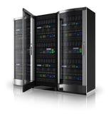 Server racks with open door Stock Image