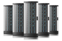 Server racks in row. Tower boxes , datacenter Stock Images