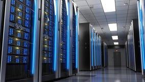 Server racks in server room data center Stock Photo