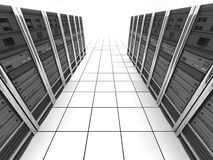 Server-Raum (Ansichtoberseite) Lizenzfreies Stockbild