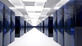 Server-Raum-Rechenzentrum 3d übertragen lizenzfreie stockfotos