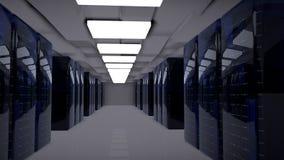 Server-Raum-Rechenzentrum 3d übertragen stockfotos