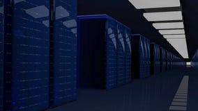 Server-Raum-Rechenzentrum 3d übertragen stockbilder