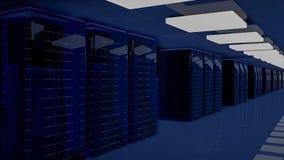 Server-Raum-Rechenzentrum 3d übertragen stockfotografie