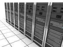 Server-Raum Reihe Lizenzfreie Stockbilder