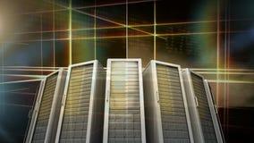 Server-Raum-Video stock abbildung