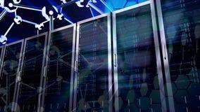 Server-Raum-Video lizenzfreie abbildung