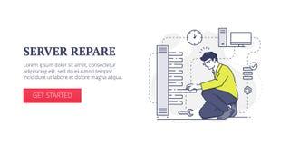 Server repare web banner Stock Photos