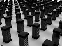 Server#4 rettangolare nero Immagini Stock