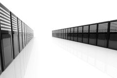 Server Room. 3D Illustration. Isolated on white stock illustration
