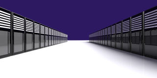 Server Room. 3D Illustration. A server room vector illustration