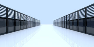 Server Room. 3D Illustration. A server room stock illustration