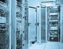 Server room. Filled with racks Stock Images