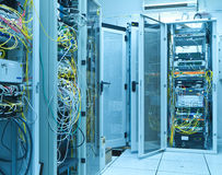 Server room. Filled with with racks Stock Photography