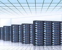 Server room. Web hosting services Stock Photo