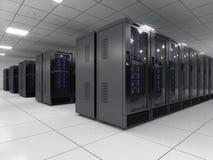 Server room. Modern Server room - 3d render royalty free illustration