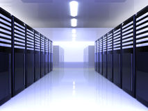 Server Room. 3D Illustration Stock Images