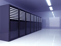 Server Room. 3D Illustration. Server room Interior royalty free illustration