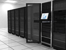 Server-room. Presentation server-room of the server on earth