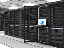 Server-room black Stock Photos