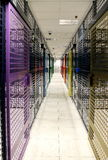 Server room. With colorful security doors Royalty Free Stock Photography