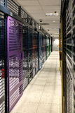 Server room. With colorful security doors Stock Photos