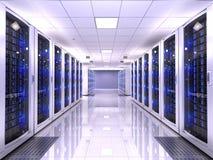 Server room vector illustration