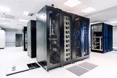 Server room. In the data center stock photography