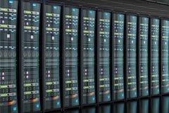 Server room in data center, 3D. Rendering