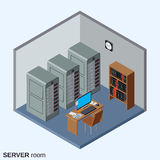 Server room, data center  Royalty Free Stock Images