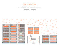 Server room and data center Royalty Free Stock Photos