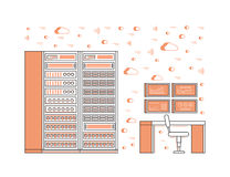 Server room and data center Royalty Free Stock Image