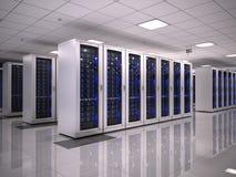Server room stock illustration