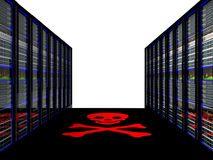 Server room in datacenter. 3d render abstract image Stock Photo