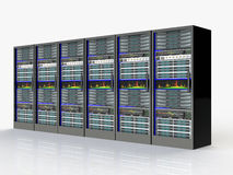 Server room in datacenter Royalty Free Stock Photo