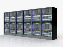 Server room in datacenter. 3d render abstract image Vector Illustration