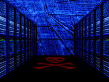 Server room in datacenter. 3d render abstract image Stock Images