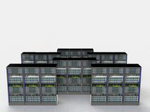 Server room in datacenter Royalty Free Stock Photography