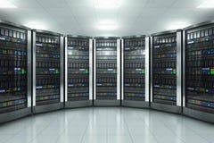 Server room in datacenter royalty free illustration