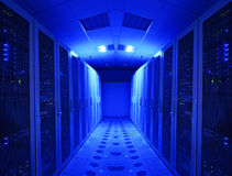 Server room and devices royalty free stock photo