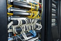 Server room equipment Royalty Free Stock Images