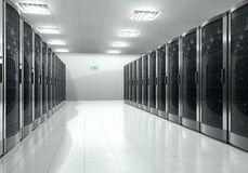 Server room interior Royalty Free Stock Image