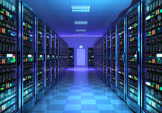 Server room interior in datacenter Royalty Free Stock Photos