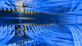 Server room loop ready animation 3d rendering Royalty Free Stock Photos