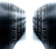 Server room with modern mainframe equipment in data center. Server room with modern mainframe equipment in the data center royalty free stock photo